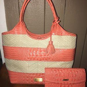 Brahmin poppy purse and wallet